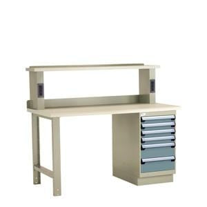 Rousseau Electronic Workbench with Drawers and Laminate Top