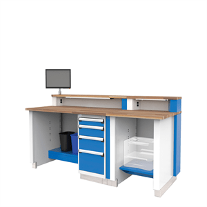 "Rousseau Stationary Service Advisor Desk 78"" wide"