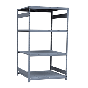 "Wide-Span Shelving Unit 48"" wide x 36"" deep x 87"" high, with 4 shelves, Starter Unit, Steel Decking"