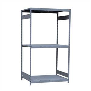 "Wide-Span Shelving Unit 48"" wide x 36"" deep x 87"" high, with 3 shelves, Starter Unit, Steel Decking"