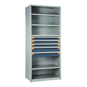 Rousseau Metal Drawers in Shelving