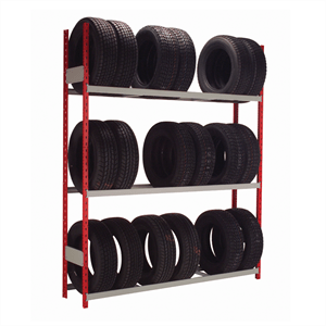 "Tire Rack 72""W x 15""D x 87""H with 3 Levels, Adder Unit"