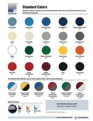 Rousseau Metal Color Chart