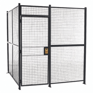 WireCrafters 3 sided storage cage grey