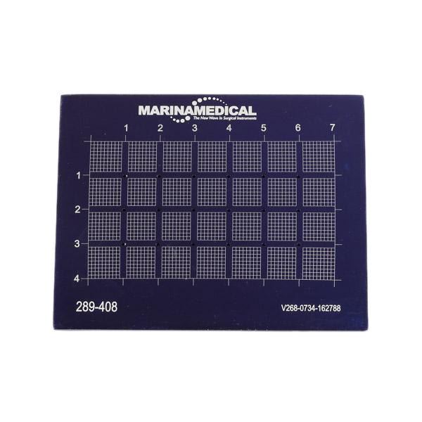 The Marina Measuring Grid by Marina Medical is 40 x 70mm, perforated - perfect for measuring for rhinoplasty | Precise Medical