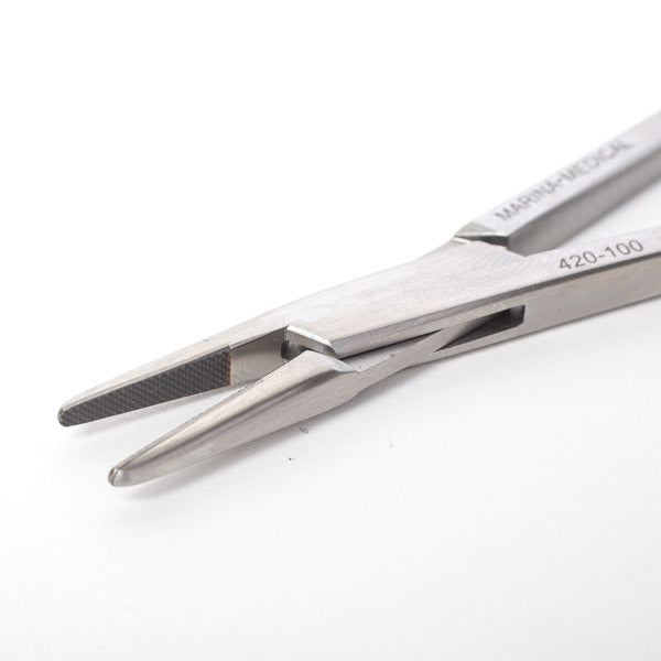 Crile Wood Needle Holder by Marina Medical is 15cm long with a smooth tip designed for the smallest sutures. German tungsten carbide inserts precisely and securely grip the needle. Now available for purchase at Precise Medical