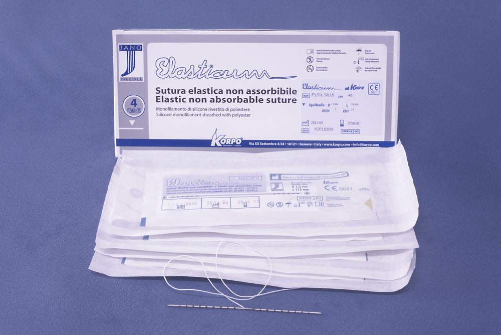 Restoration Medical Korpo ELASTICUM® EP3,5 USP0 Jano Barbed Suture Thread Lift Needle