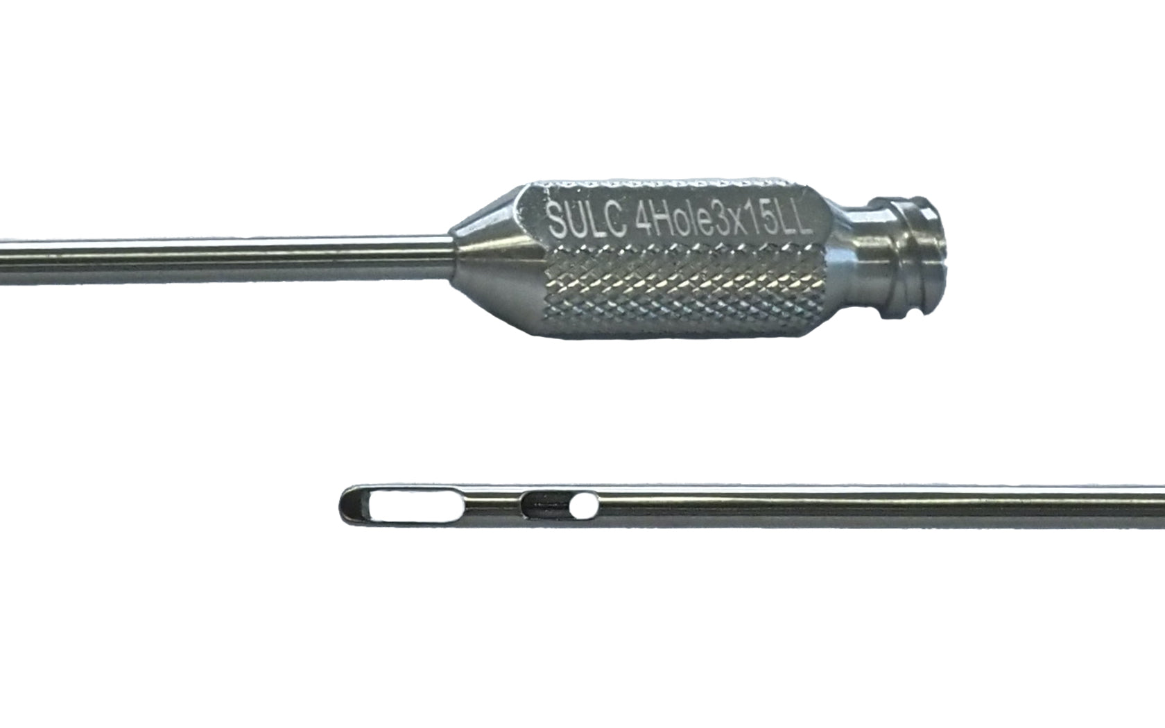 4 Hole Round Tip Single Use Fat Harvesting Cannula with Luer Lock by Precise Medical Supplies