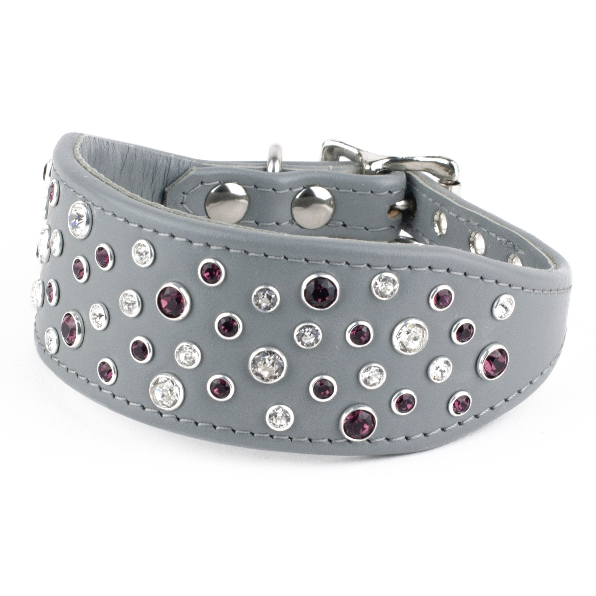 Colour Splash Leather Italian Greyhound Collar