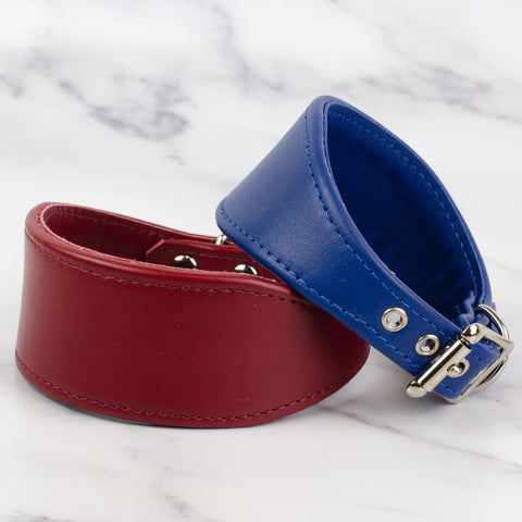 Colour Contrast Leather Whippet Collar