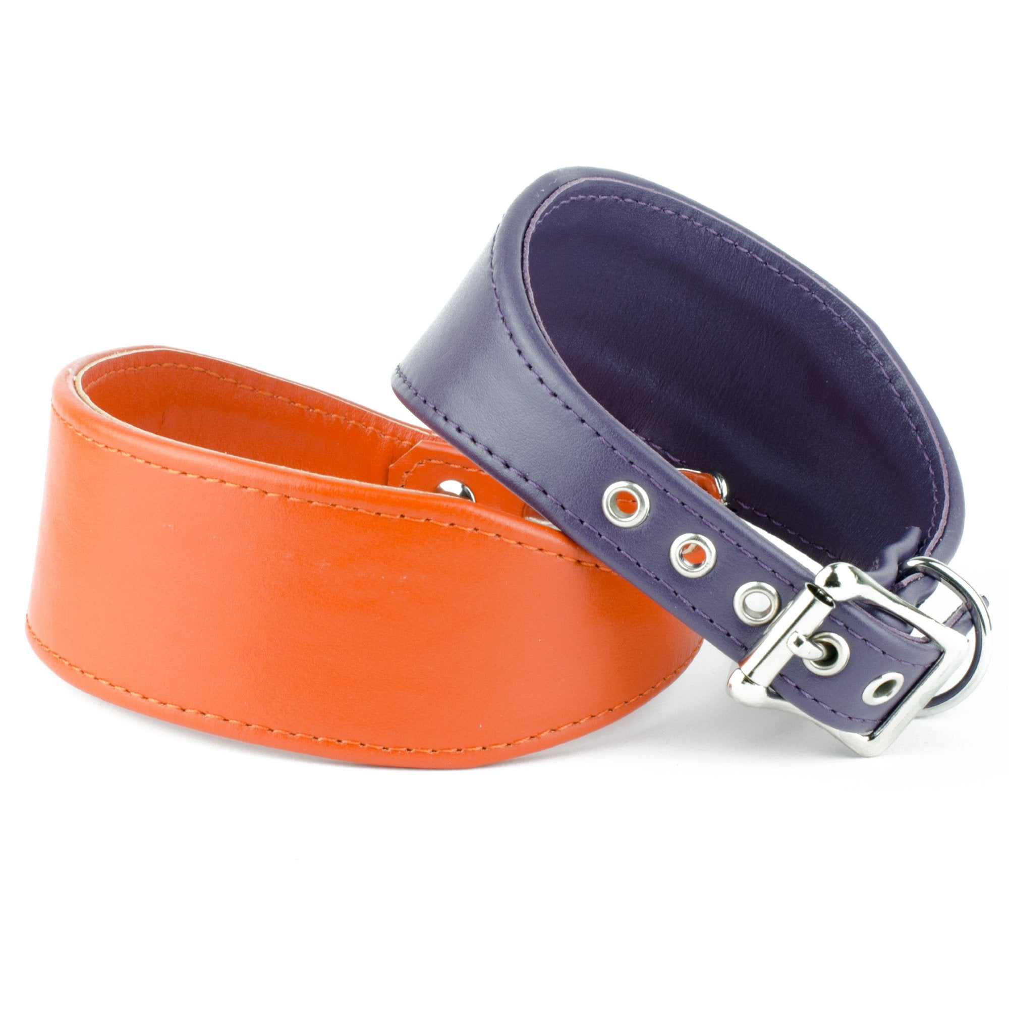 Italian Leather Whippet Collar