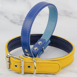 Twin Tone Leather Dog Collar