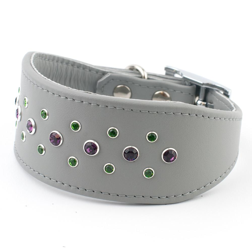 Razzle Dazzle Leather Italian Greyhound Collar