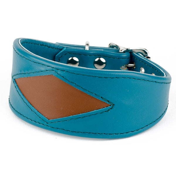 Geometric Leather Whippet Collar