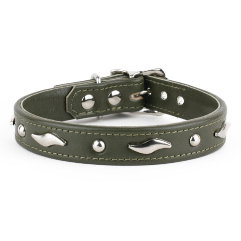 Waverider Leather Dog Collar