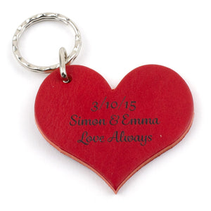 Heart Shaped Leather Keyring