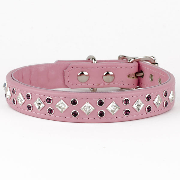 Regal Splendour Luxury Leather Dog Collar