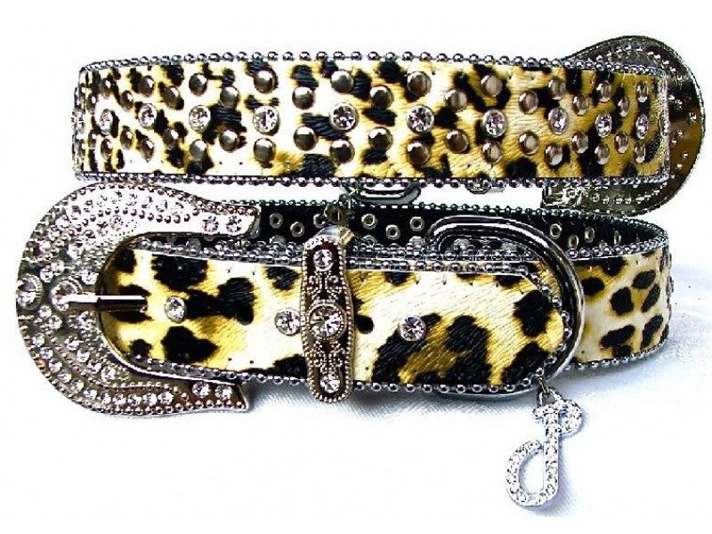 Lush Leopard Leather Dog Collar