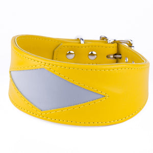 Geometric Leather Greyhound & Lurcher Collar