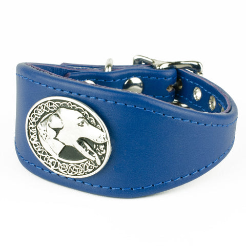 For the Hounds Italian Greyhound Leather Collar