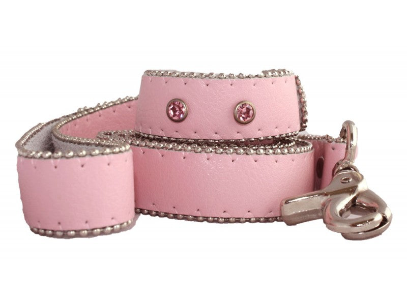 Monte Carlo Pink Leather Dog Lead