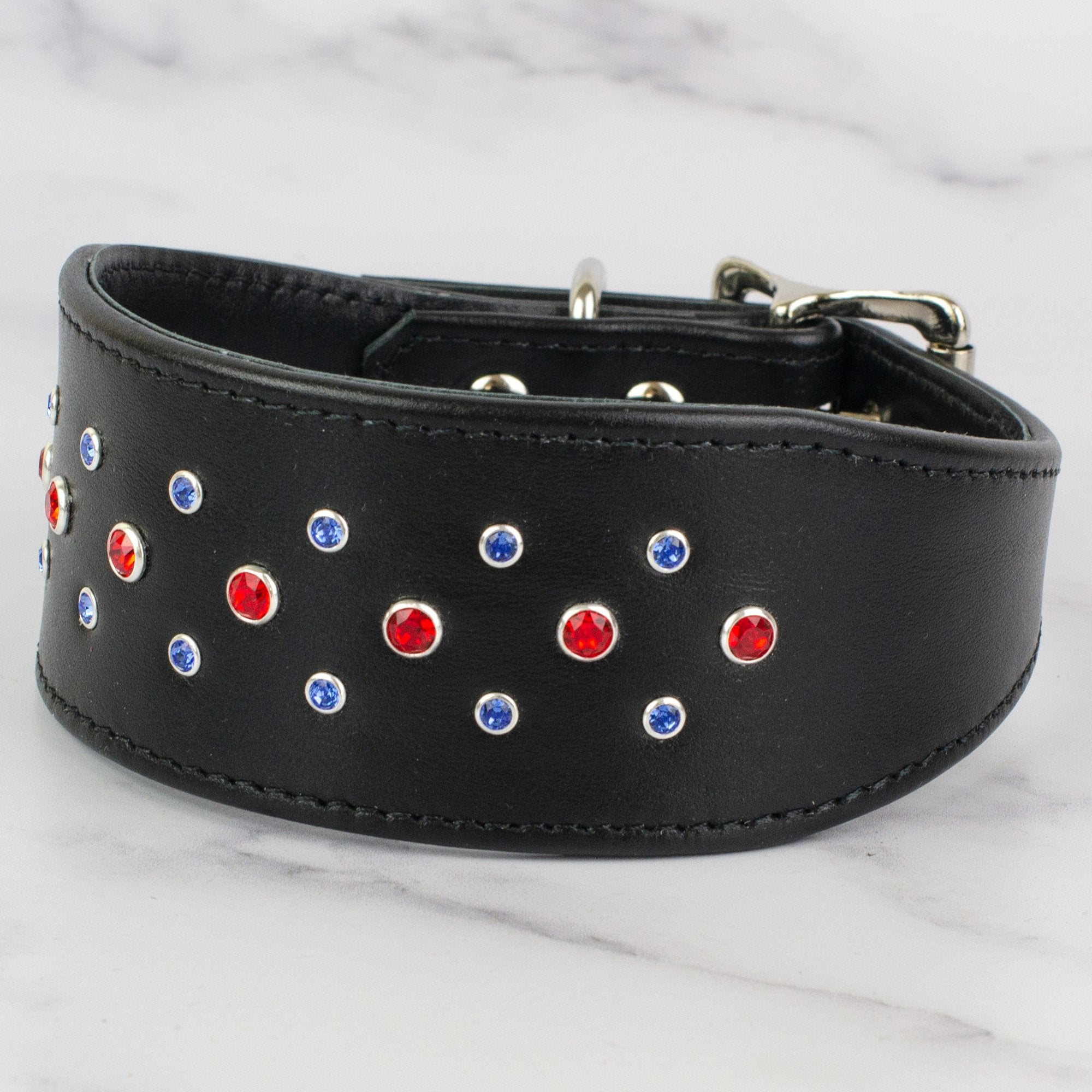 Razzle Dazzle Leather Greyhound & Lurcher Collar