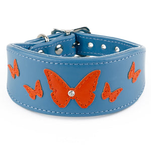 Butterfly Farm Greyhound & Lurcher Leather Collar
