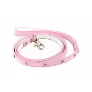 Candy Floss Pink Leather Dog Lead
