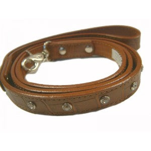 Choc Croc Designer Leather Dog Lead