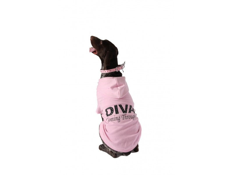 Diva Coming Through Pink Dog Hoodie
