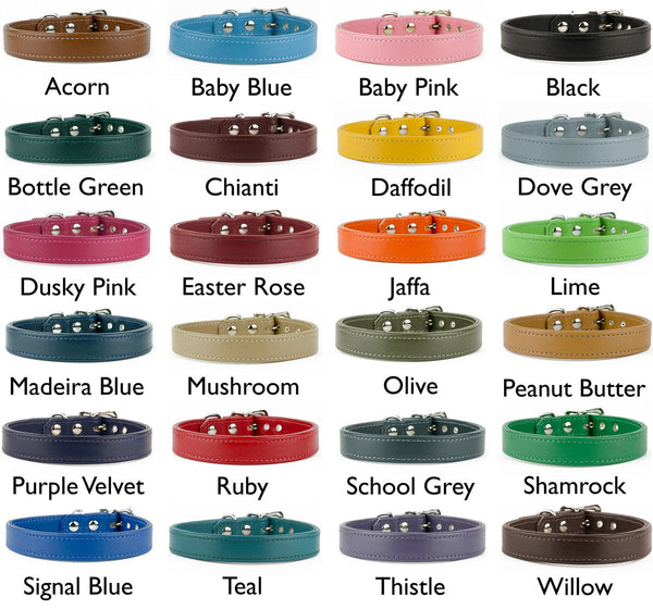Leather Dog Collars Leather Colours