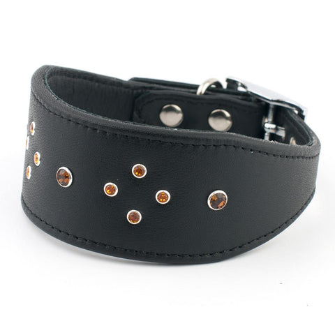 Diamond Sky Leather Italian Greyhound Collar