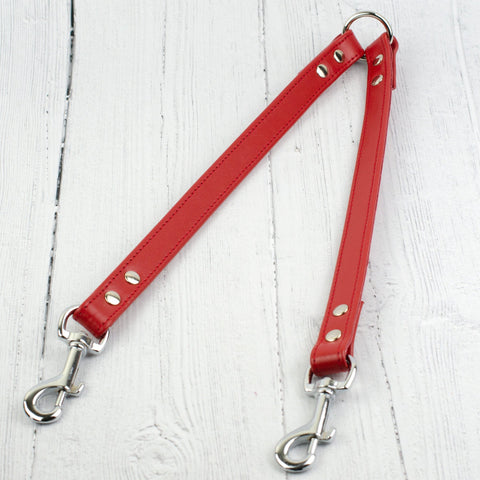 Handmade Italian Leather Dog Lead Coupler