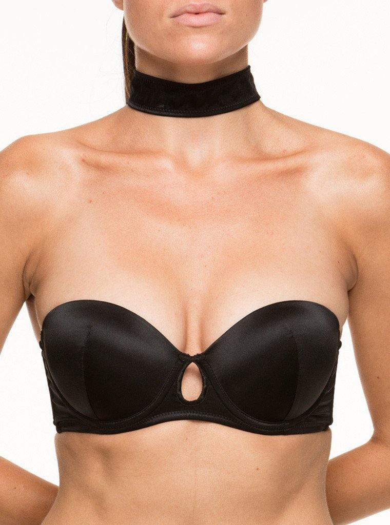 BOND ZIP BACK CHOKER BRA