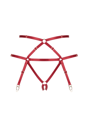 BONDAGE HARNESS SUSPENDER RED