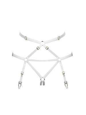 Bondage Harness Suspender White