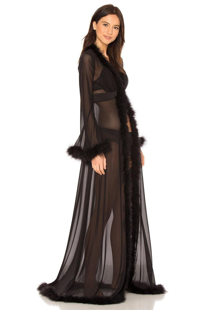 GLAM FEATHER ROBE