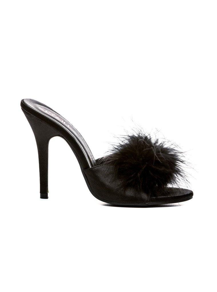 FEATHER STILETTO SLIPPERS