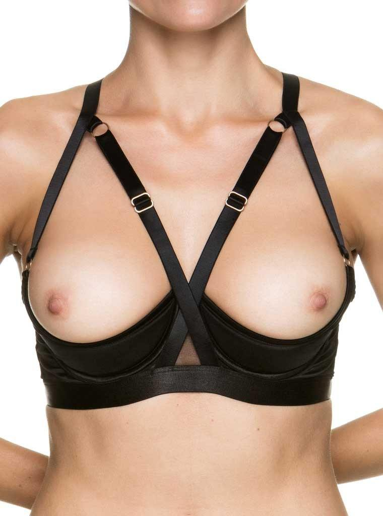 Lingerie Melbourne KISSKILL Black Open Bra Addict
