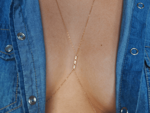 TINY DIAMOND TRIO BODY CHAIN