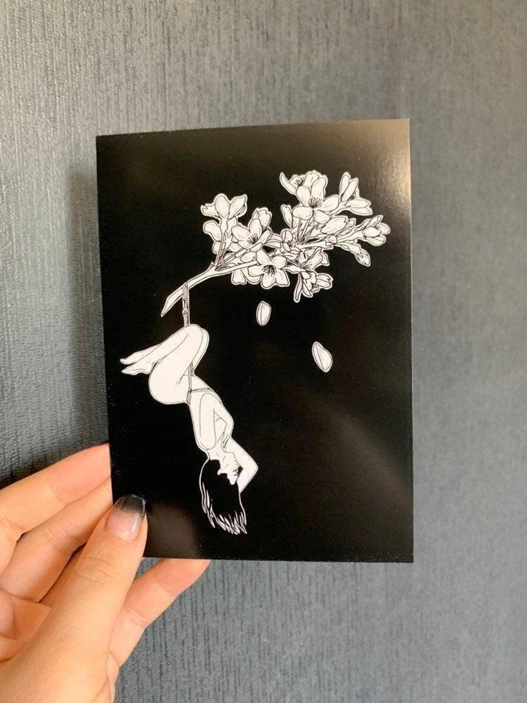 GLAM BECKETT CARDS - Sakura Flower Shibari 2