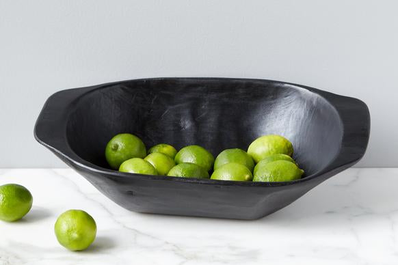 Vintage Black Dough Bowl