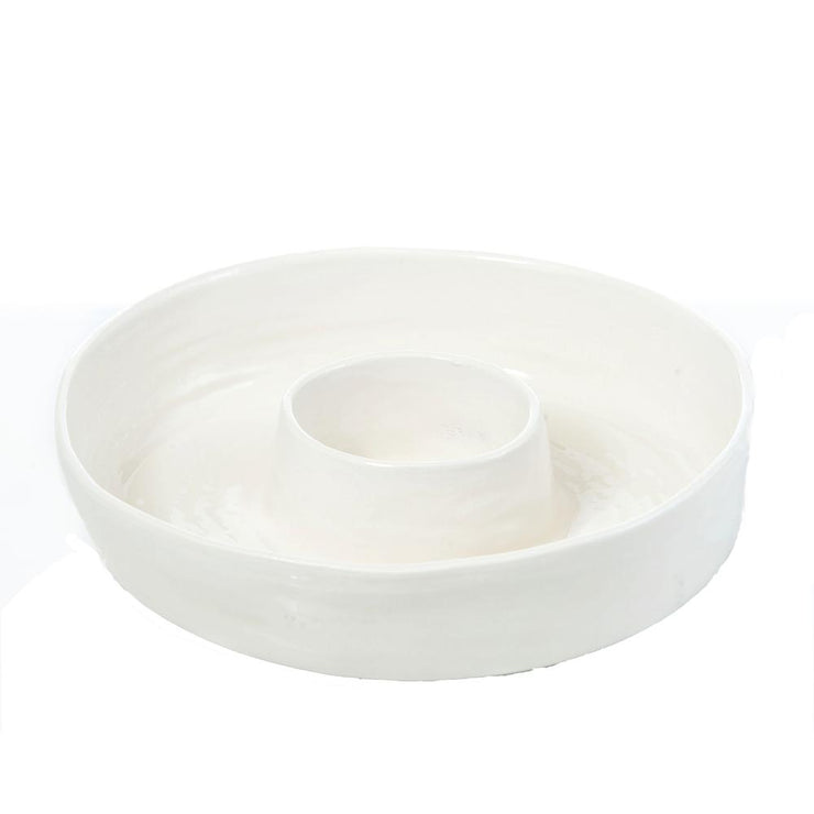 Palmetto Ceramic Chip N' Dip, Cream