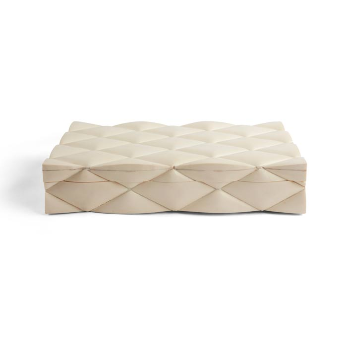 Quilted Bone Box
