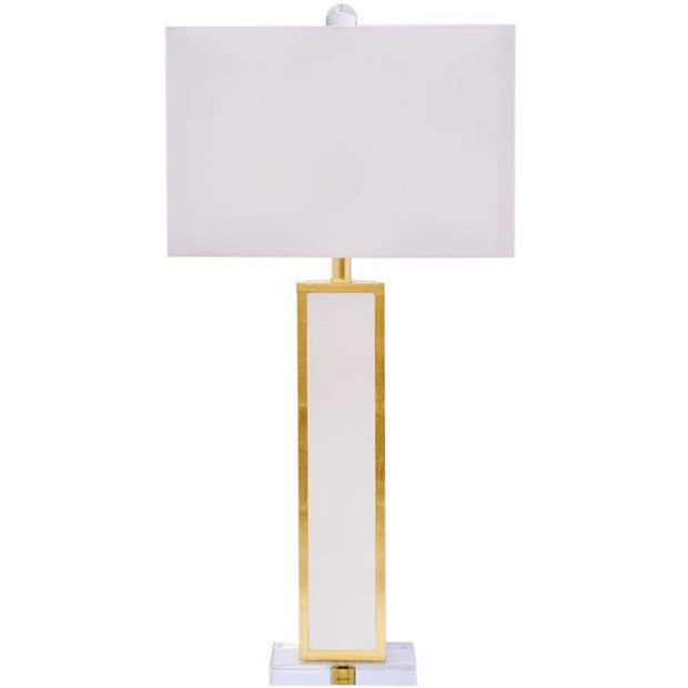 Blair Lamp, White and Gold