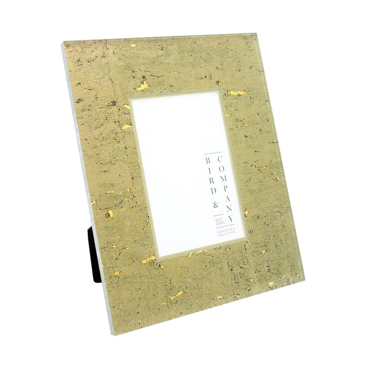 Bronze Cork/Gold Leaf Picture Frame, 8x10