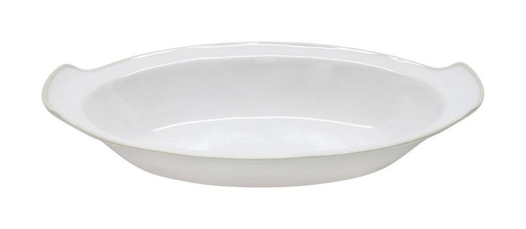 "Astoria 16.25"" Oval Gratin- White"