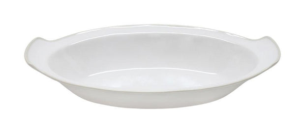 "Astoria 13"" Oval Gratin- White"