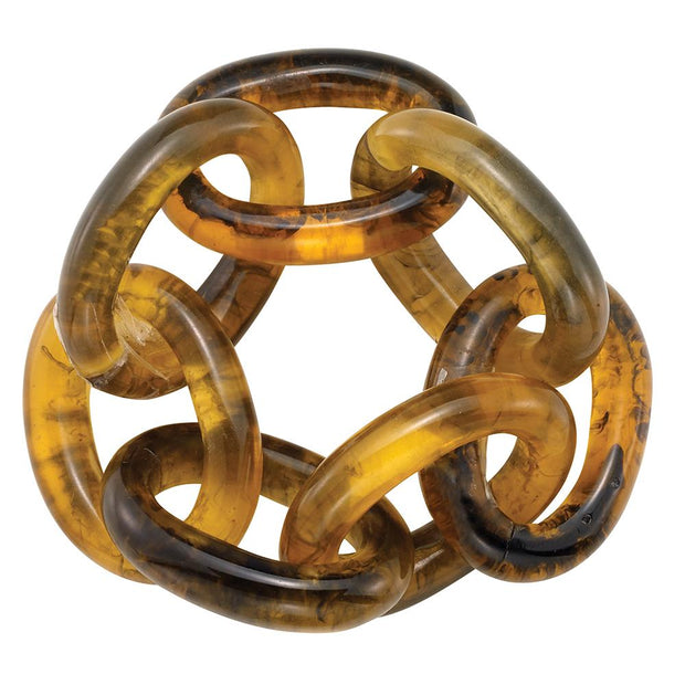 Chain Link Napkin Ring, Tortoise, Set/4