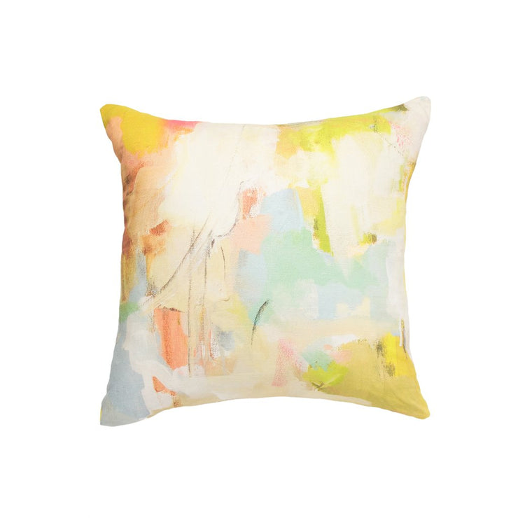Coral Bay Orange Linen Pillow